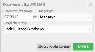 Dodawanie pliku JPK MAG